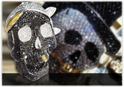Diamond Skull Pendants