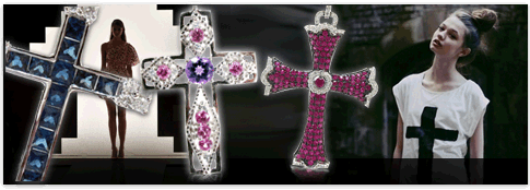 Gemstone crosses
