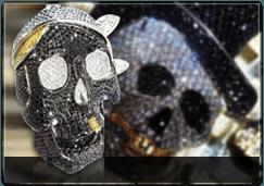 Diamond Skull Pendants