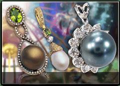 Pearl Diamond Pendants