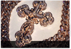 Diamond Gold Rosary Chains