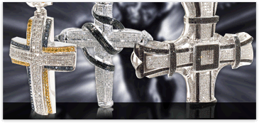 Mens Silver Crosses