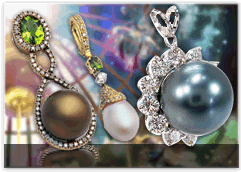 Pearl Diamond Pendants