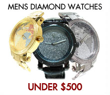 Affordable Mens Diamond Watch