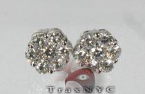 XL VS Flower Studs Mens Diamond Earrings