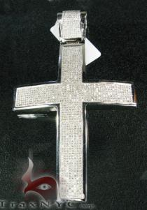 XL Pave Cross Diamond