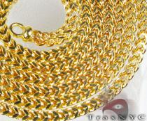 Yellow Semi-Hollow Franco 30 Inches, 4mm, 21.9 Grams Gold Chains