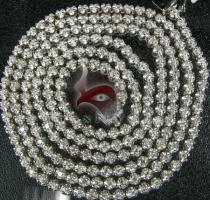 Round Cut Diamond Chain 32 Inches, 4mm, 46 Grams Diamond Chains