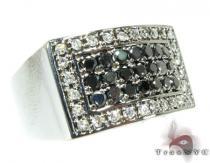 Black Diamond 5 Row Prong Ring メンズ ダイヤモンド リング