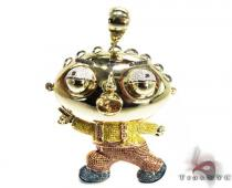 Custom Jewelry - Diamond Stewie Pendant Diamond Pendants