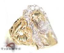 Jesus Head Ring Mens Gold Rings