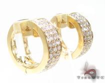 YG Uniqua Hoops レディース ダイヤモンドイヤリング