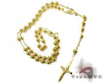 Medieval Rosary Beads 3 Diamond Gold Rosary Chains