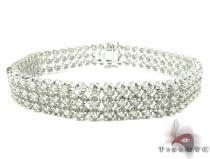 3 Row Toni Bracelet メンズ ダイヤモンド ブレスレット