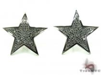 Black Diamond Micro-Pave Star Earring Mens Diamond Earrings