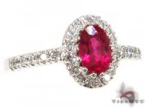 Mini Ruby Island Ring ジェムストーン ダイヤモンド リング