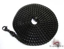 Black Stainless Steel Chain 40 Inches, 4mm, 61 Grams ステンレススティールチェーン