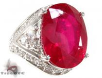 One of a Kind Ruby Ring 3 ジェムストーン ダイヤモンド リング