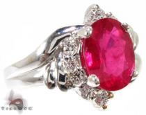 One of a Kind Ruby Ring 2 ジェムストーン ダイヤモンド リング