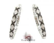 Eve Black & White Diamond Hoops ダイヤモンド フープイヤリング