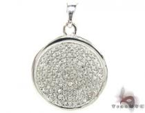 Round Prong Pendant 2 Diamond Pendants