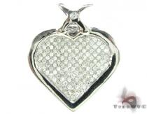 Micro Pave Heart Pendant Diamond Heart Pendants