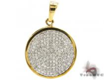 Round Prong Pendant Diamond Pendants