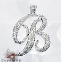 Initial B Pendant Diamond Pendants