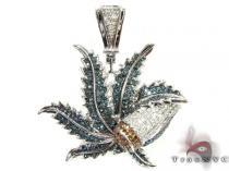 Canabis Pendant Diamond Pendants