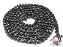 Black Gold Diamond Chain 30 Inches, 4mm, 44.9 Grams Diamond Chains