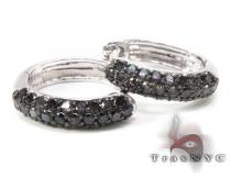 Black Diamond Dimension Earrings Diamond Hoop Earrings