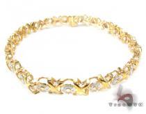 Yellow Gold Hugs & Kisses Bracelet Diamond