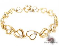 Swirl Hearts Bracelet Diamond