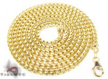Yellow Gold Solid Franco Chain 32 Inches, 4mm, 75.80 Grams Gold