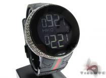 Fully Iced Black Diamond Digital Gucci Watch Gucci グッチ