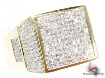 Yellow Gold Stamp Ring Mens Diamond Rings