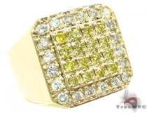 Canary TraxNYC Heavy 14k Gold Ring メンズ ダイヤモンド リング