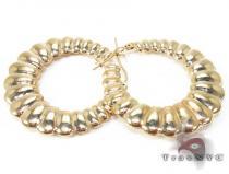 Golden Riffle Earrings レディース ゴールドイヤリング