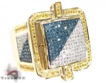 Multi Color Dynasty Ring Mens Diamond Rings