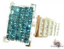 Blue Center Ice Ring Womens Diamond Rings