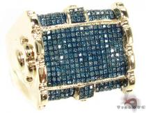 Blue Warfare Ridge Ring Mens Diamond Rings