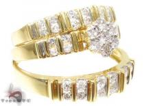 3 Piece Dechantal Ring Set 結婚指輪 ダイヤモンド セット