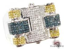Multi Color Puzzle Ring Mens Diamond Rings