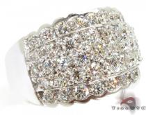 18K White Gold & Diamond Czar Wave Ring Mens Diamond Rings