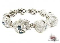 Custom Jewelry - Diamond Skull Bracelet Mens Diamond Bracelets