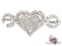 Zoey Heart Bangle Bracelet ダイヤモンド ブレスレット
