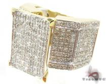 10K Yellow Gold Diamond Herringbone Ring Womens Diamond Rings