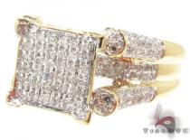 10K Yellow Gold Diamond Triumph Ring Womens Diamond Rings