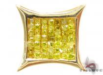 SQ Canary Single Mens Diamond Earrings