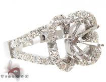 VS Four-Leaf Semi Mount Ring Engagement